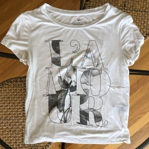 American Eagle Soft and Sexy L'AMOUR love Tee